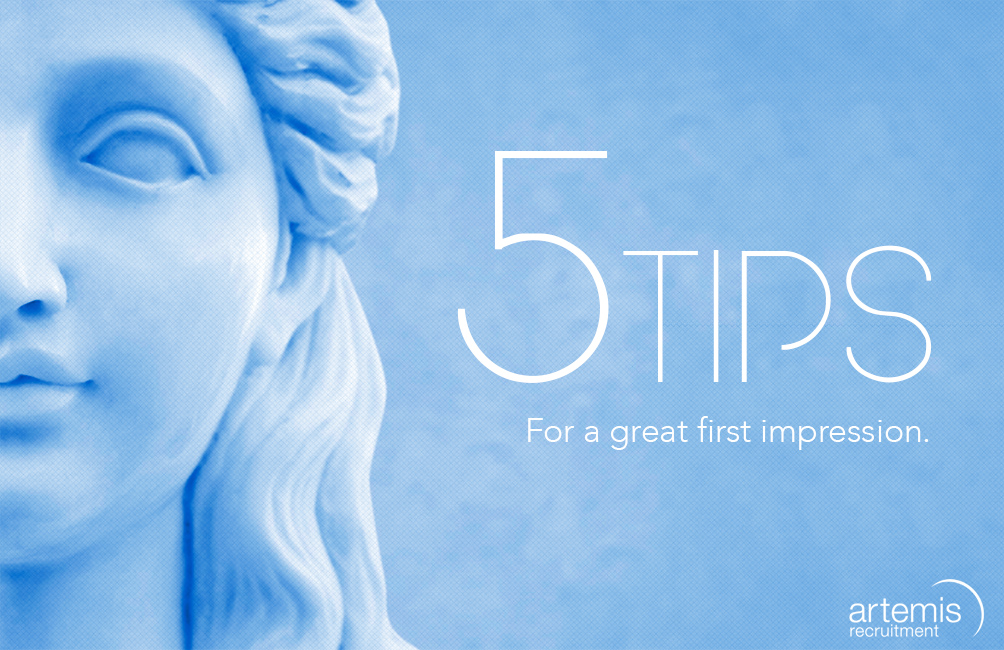 5 tips from Artemis Recruitment